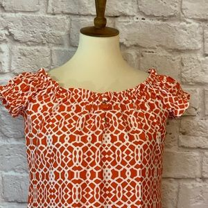 Jude Connally Dresses - Jude Connally coral/white knit dress size …
